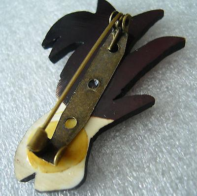 Vintage early plastic Art Deco pin brooch