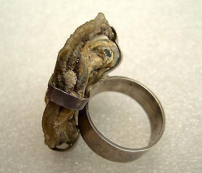 Vintage large silver & Quarzite cocktail ring
