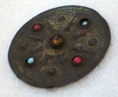 Vintage old oriental pendant / brooch