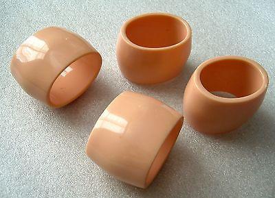 Vintage mid-century early plastic napkin rings - set of 4