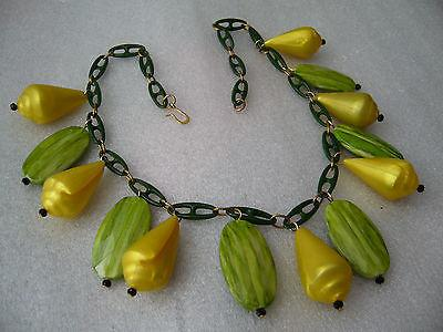 Vintage early plastic faux shells necklace