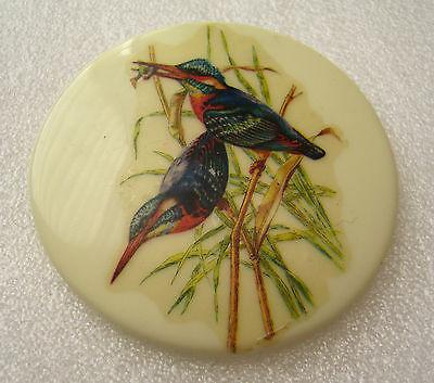 Vintage 1950s early plastic pin / brooch with birds