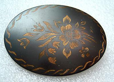 Vintage 1950s enamel on copper pin / brooch # 3