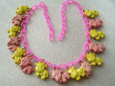 "Vintage ""cow parade"" early plastic necklace"