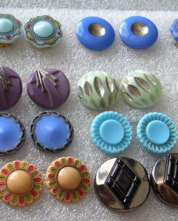 Vintage Czech  glass clip on earrings - sold separately