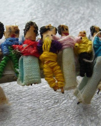 Vintage hand made little people figurines hair barrette clip