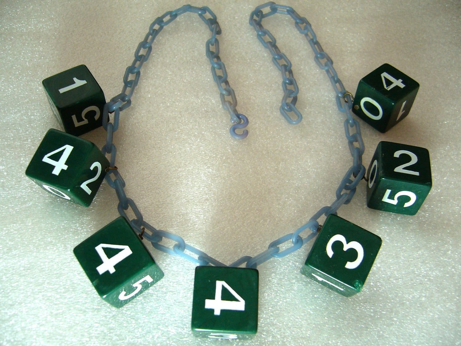 Vintage celluloid & early plastic art deco dice necklace - bakelite style