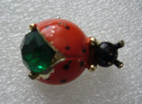 Vintage painted tin small pin brooches collection