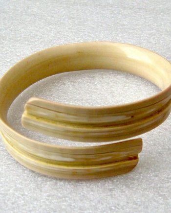Vintage Galalith lightweight adjustable snake bracelet bangle - bakelite era