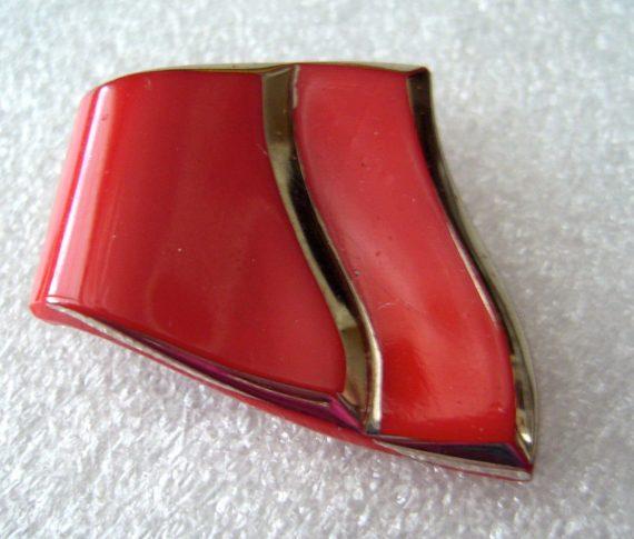 Vintage Czech glass dress clips - lot of 2