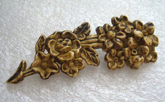 Vintage flower celluloid pin brooch