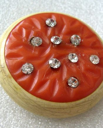 Vintage 1930s art deco celluloid sparkling pin brooch