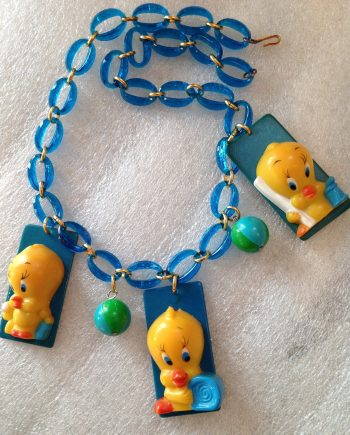 "Vintage pop art early plastic ""Tweety"" necklace"