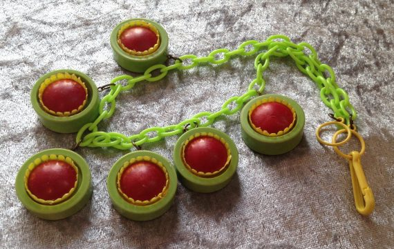 Vintage 3-D early plastic dangles necklace