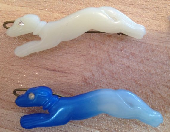 Vintage animals dogs and more early plastic hair barrette clip