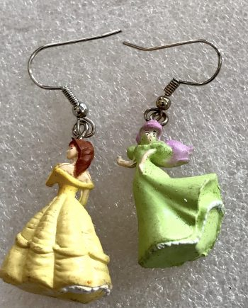 Fantasy earrings with princesses & fairies - vintage style