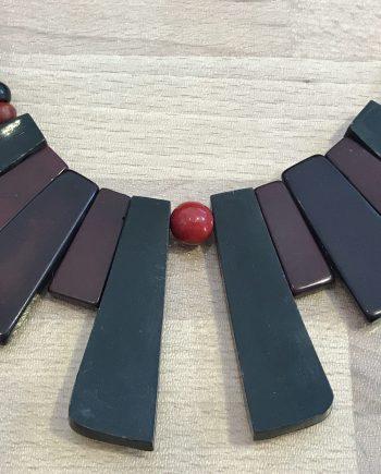 Vintage bakelite & early plastic art deco necklace